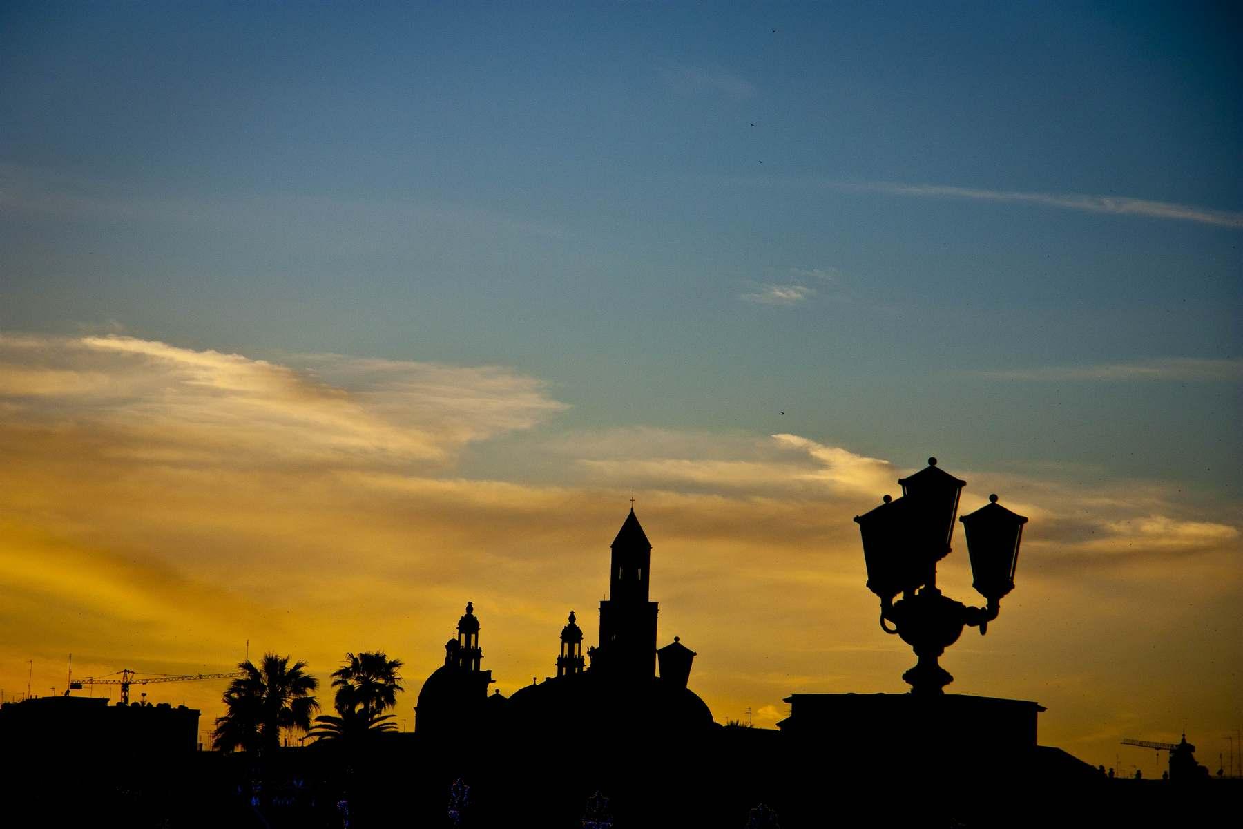 Il campanile ed il Lampione
